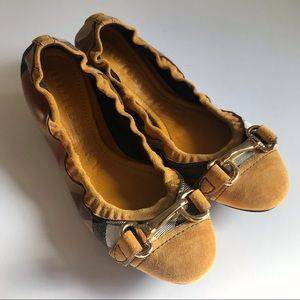 Burberry flat shoes heritage housecheck size36.5